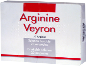 Arginine veyron, solution buvable en ampoule