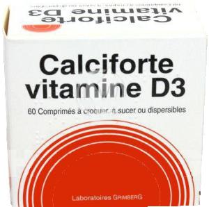 Calciforte vitamine d3, comprimé à croquer, à sucer ou dispersible