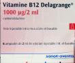 Vitamine b12 delagrange 1000 µg/2 ml, solution injectable (im) et buvable