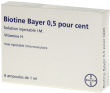 Biotine bayer 0,5%, solution injectable i.m.