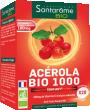 Acérola Bio 1000 Comprimés à croquer au bon goût de fruits rouges.